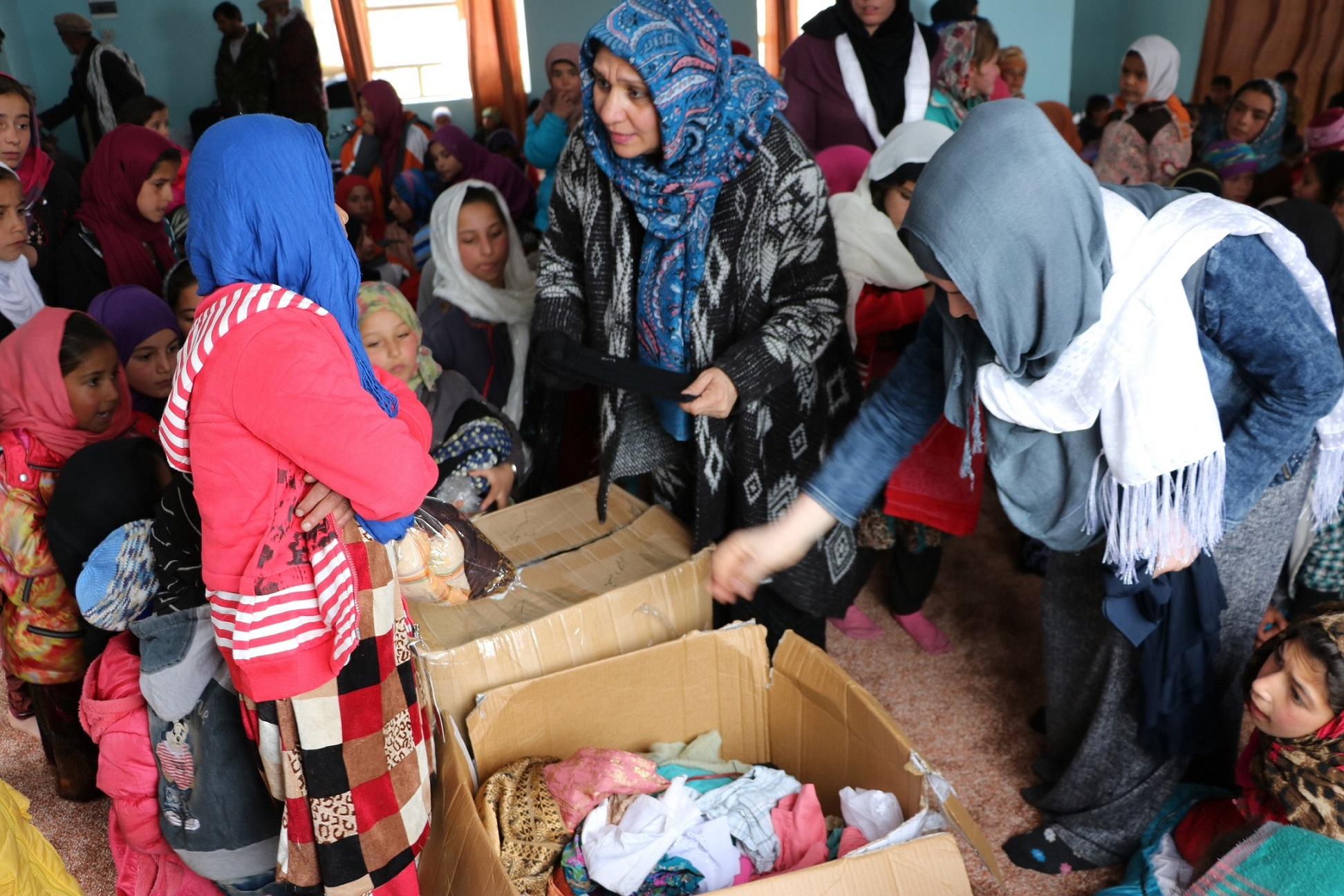 Clothes donation at Abdara
