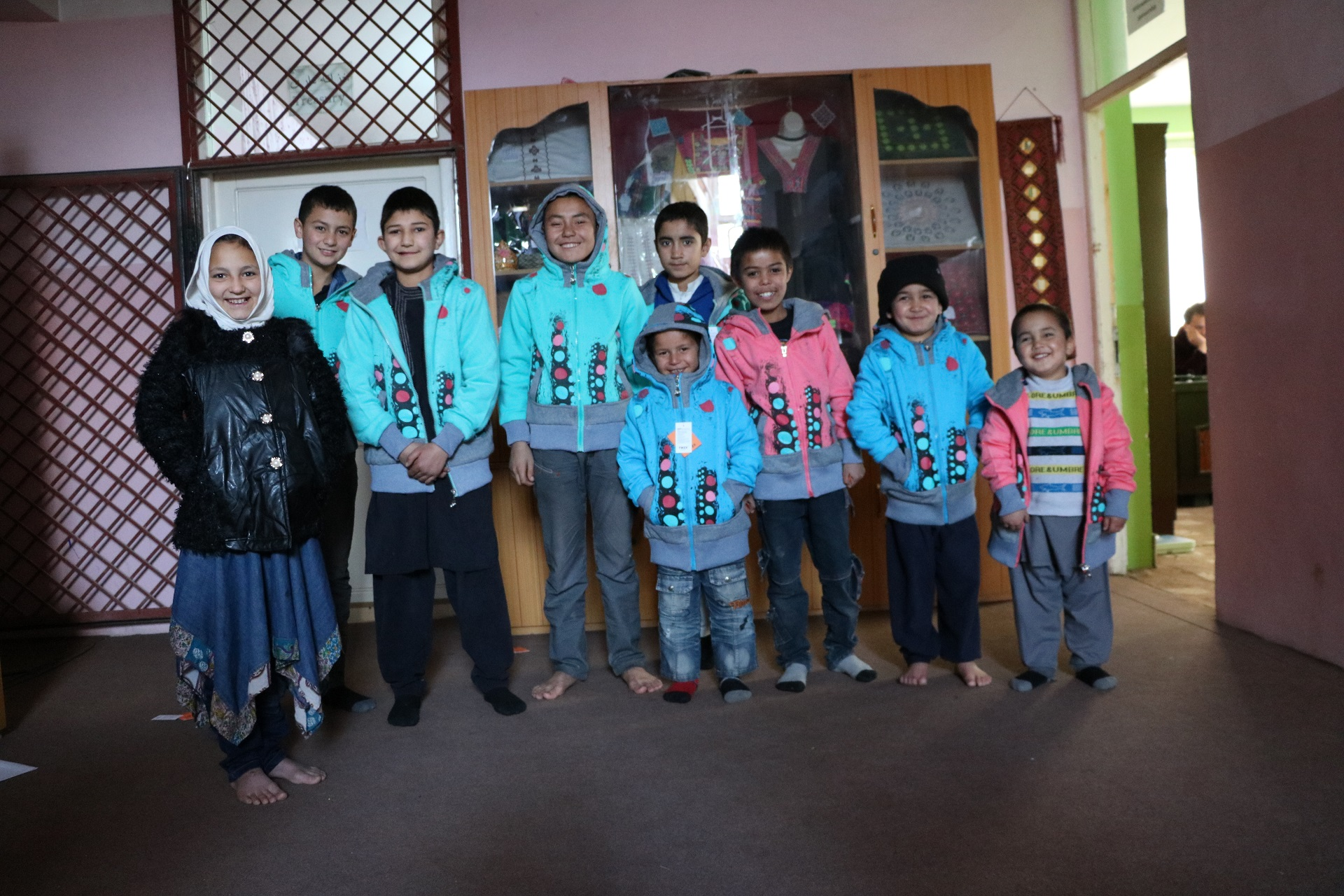Kida at Kabul Hope House in Warm clothes
