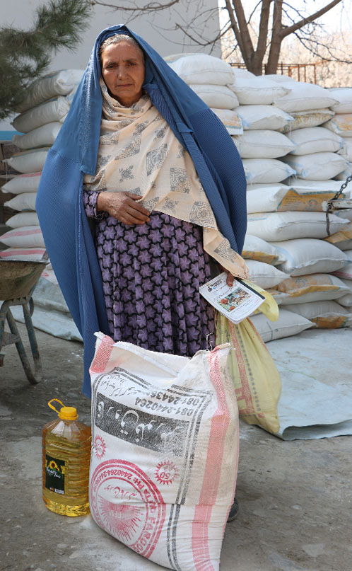 Widow Receiving Rice