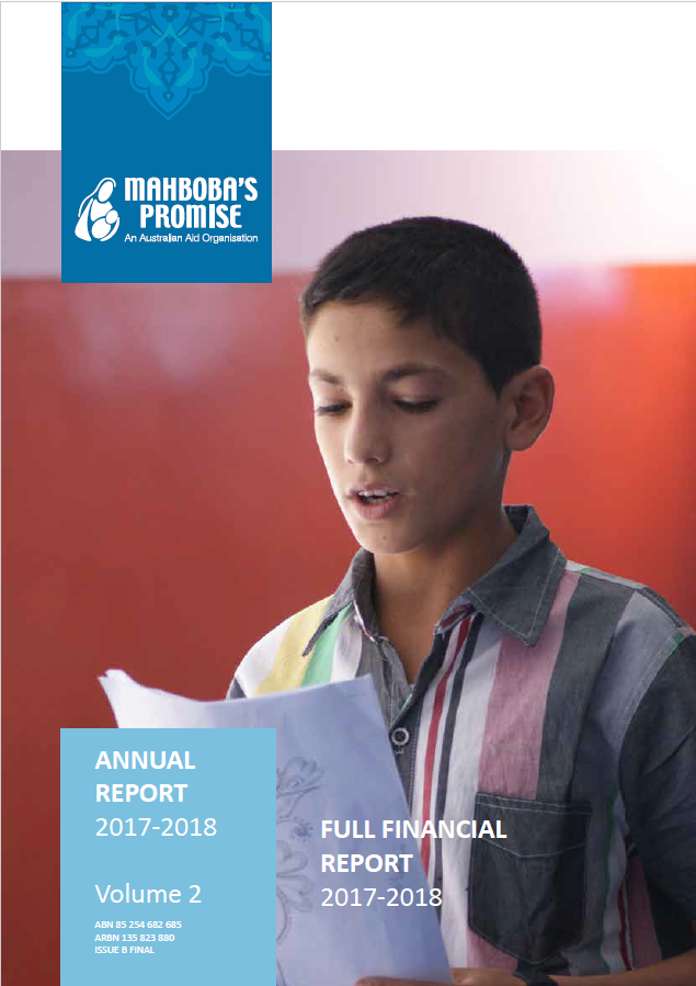 Annual finance report cover