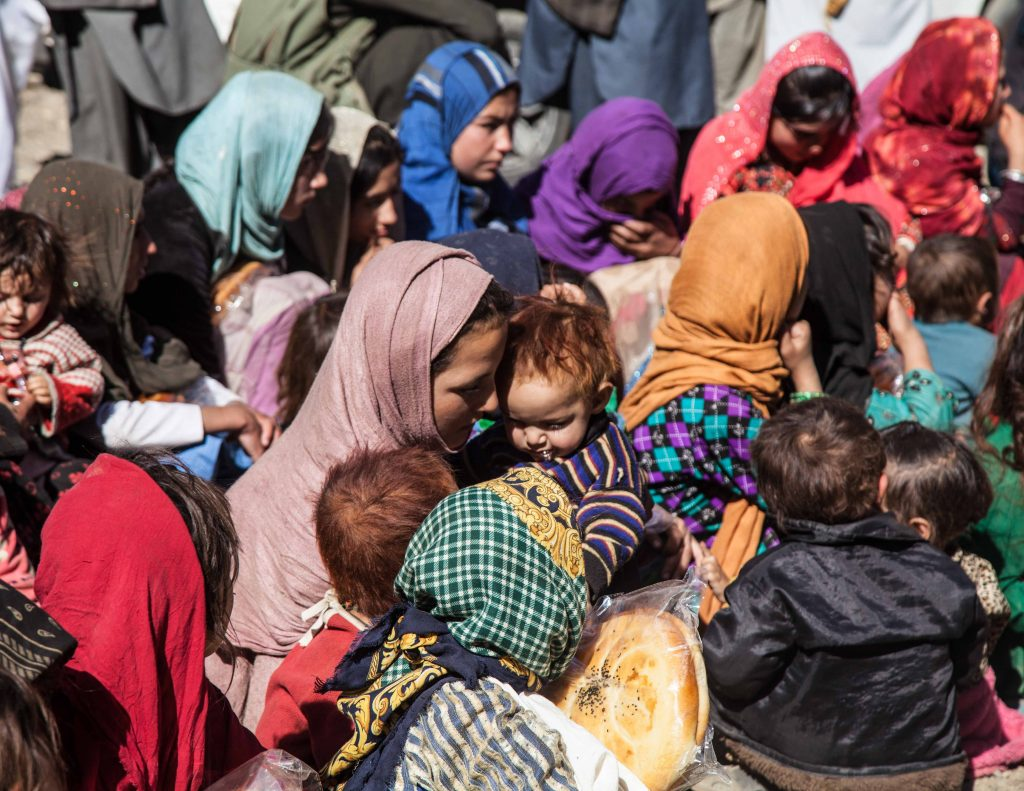 'Children and young women sitting' Mahboba's Promise Afghanistan 2021