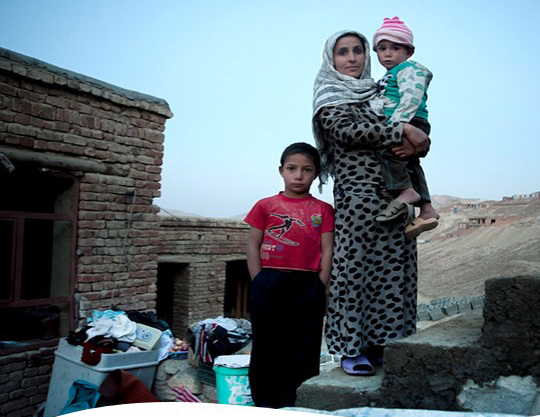 'Woman and children outside home' Mahboba's Promise Afghanistan 2021