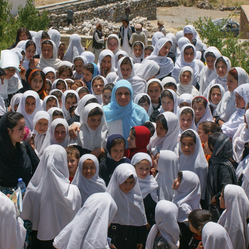 Mother Mahboba and Abdara students