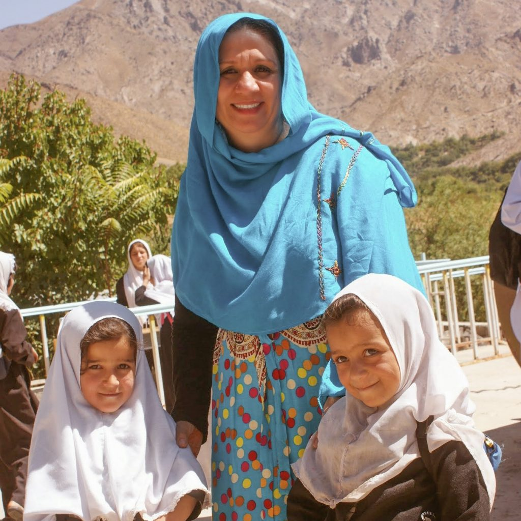 Mother Mahboba With Zahra (Left) and her freind.
